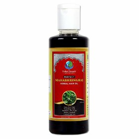 Prithvi Naturals Perfect Mahabhringraj Herbal Hair Oil For Growing New Hairs And Scalp Nourishment For Both Men And Wome