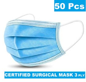 Medical Surgical Dust Face Mask Ear Loop Medical Surgical Dust Face Mask - Surgical Mask Pack of 50 - Flumask