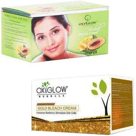 Oxyglow Gold Bleach Cream (200 gm) (Pcs 1 )+Oxyglow Herbal Bleach (200 gm) (Pcs 1 )