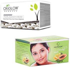 Oxyglow Pearl Bleach Cream (200 gm) (Pcs 1 )+Oxyglow Herbal Bleach (200 gm) (Pcs 1 )