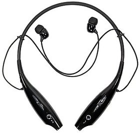AZONMART HBS-730 Neckband Bluetooth Headphones Earphone Wireless Headset with Mic for All Smartphones(Black)