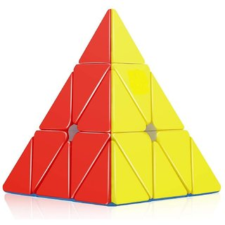 Aseenaa Speed Pyramid Cube High Speed Puzzle Cubes Game Toys for Kids  Adults - Set of 1
