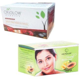 Oxyglow Multifruit Bleach Cream (200 gm) (Pcs 1 )+Oxyglow Herbal Bleach (200 gm) (Pcs 1 )