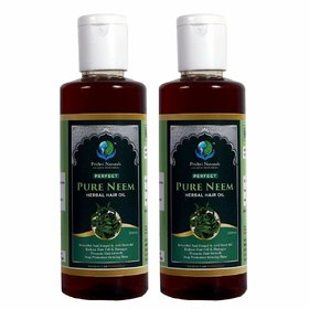 Prithvi Naturals Perfect Pure Neem Herbal Hair Oil, Controlls Hairfall And  Major Hair Problems , Best Combo Of Neem H