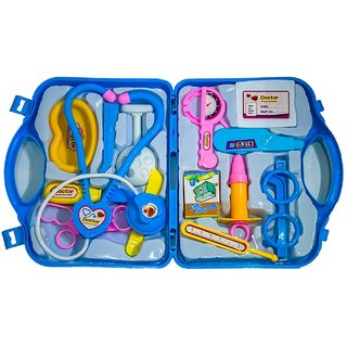 AT Girls and Boys Playing Doctor Set Kit with Fold able Suitcase, Compact Medical Accessories Pretend Play Toy (Multi Co