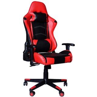 MRC Predator Gaming Chair Racing Style Ergonomic High Back Revolving Computer/Student Chair (Red  Black)