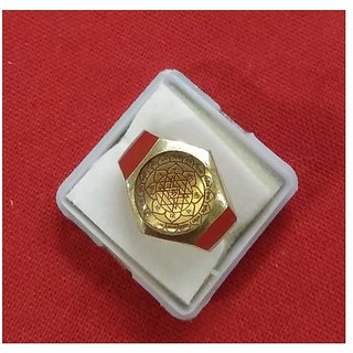 Ashtadhatu Shree Yantra Ring in Gold Plated For Men And Women