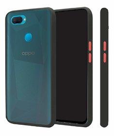Innotek Smoke Back Cover for Oppo A5s Smoke Shock Proof Smooth Rubberized Matte Hard Back Case Cover  Black Smoke