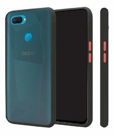 Innotek Smoke Back Cover for Oppo F9 Pro Smoke Shock Proof Smooth Rubberized Matte Hard Back Case Cover  Black Smoke