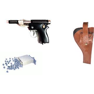 Mannat Unisex Air Gun 007-2 Metal Body 300 Pellets Cover Air Gun Combo Offer