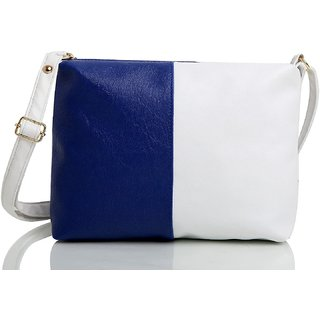 29K Women Dual Color Sling Bag Blue-White