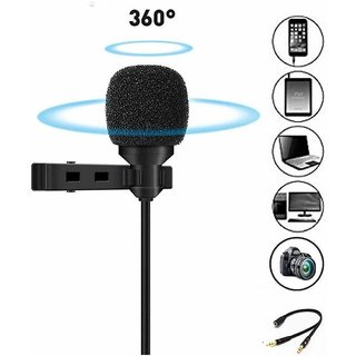 Collar Microphone with Voice Recording Filter Mic for Recording Singing YouTube on Smartphones School / Tuition Classes