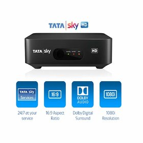 Tatasky HD BOX only with one month Hindi Lite Normal PACK Without Outer DISH Fitting