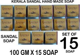 kerala sandal soap pack of 15 combo pack 100gm x15 sandal beauty soap