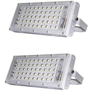 50 Watt Ultra Thin Slim IP65 Metalled Flood Outdoor Light Cool White Waterproof Brick Light 50W (Pack of 2)