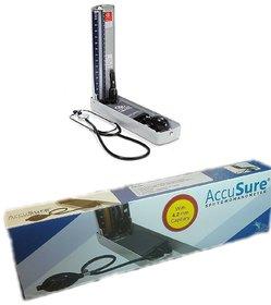 AccuSure Mercury Sphygmomanometer Blood Pressure Apparatus 4.2 mm (Multicolor)