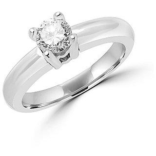 8.5 Ratti Lab Certified Stone 100% Original White Sapphire silver Ring by Ratan Bazaar