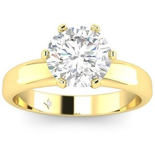9 ratti Gold Plated  White Sapphire  Ring for unisex by  Ratan Bazaar