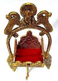 INFINITE GREEN Vrindavan Gold Plated Jhula