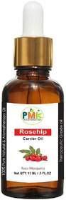 PMK Pure Natural Rosehip Cold Pressed Carrier Oil (15Ml)