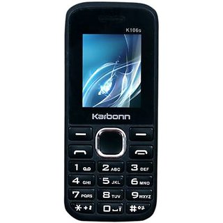 Karbonn K106S MOBILE PHONE (Black-Red)