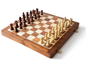 Wooden Chess Board with Box Style  Easy Folding 01
