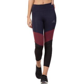 Threadstone Women's Multicolor Plain Spandex Active Wear/Leggings