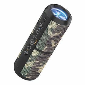 Portronics Breeze II 20W POR-699 Bluetooth 4.2 Portable Stereo Speaker with TWS Micro SD Card Aux in Water Resistant 2000mAh Battery Camouflage