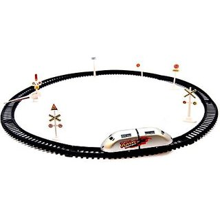 Universal  High Speed  Train with Round Track with Sign Boards for Kids  (Multicolor)