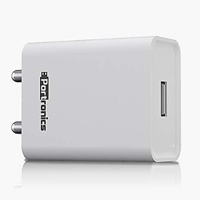Portronics Adapto 62 POR-1062 2.4Amp Single USB Port Wall Adapter Without Cable (White)