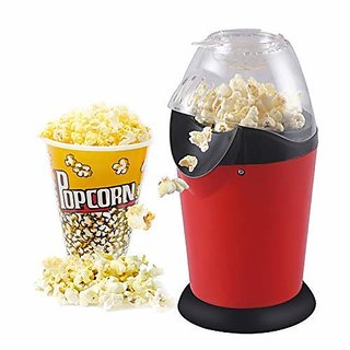 Nugenic Hot Air Popcorn, Popper Electric Machine Snack Maker, with Measuring Cup and Removable Lid/Instant Popcorn Grade