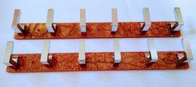 Aansi products acrylic khuti (6 hook) 2pcs