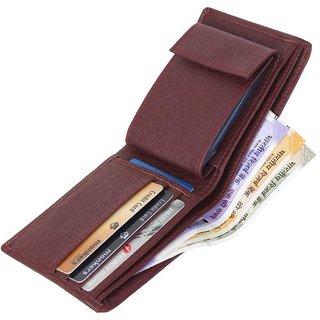 Sunshopping Men Brown Synthetic Leatherite Bi-fold Wallet