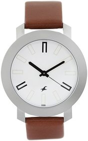 Fastrack Men's 3120Sl01 Elegant Brown Leather Strap Round Dial Casual Watch