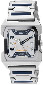 Fastrack Men Stylish Rectangle Metal Dial Silver Watch