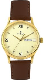 Titan 1580 Watch With Day And Date Feature For Men