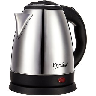 Prestige Electric Kettle PKOSS - 1500watts, Steel (1.5Ltr), Black