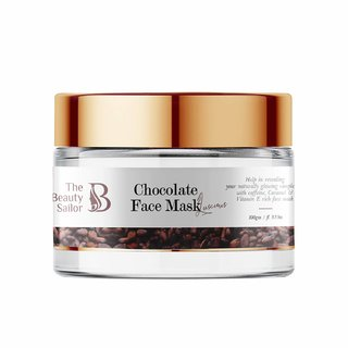 The Beauty Sailor Chocolate Face Mask, Caffeine, Caramel  Vitamin E - No Paraben  No Sulphate, 100 GM