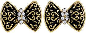 Asmitta Eye-Catchy Butterfly Shape Gold Plated Stud Earring For Women