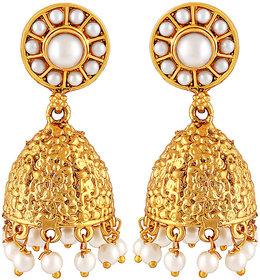 Asmitta Jewellery Gold Plated Gold Zinc Jhumkis For Women