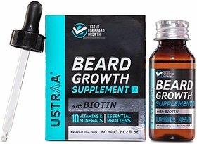 Ustraa Beard Growth Supplement Hair Oil (60 ml)