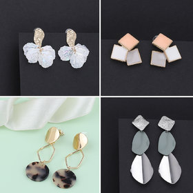 Party Wear Stylish Fashion Earrings For Women and Girls 4 Pairs