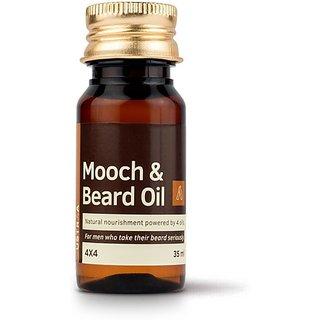 Ustraa Mooch & Beard Oil 4x4 (35 ml) Hair Oil (35 ml)