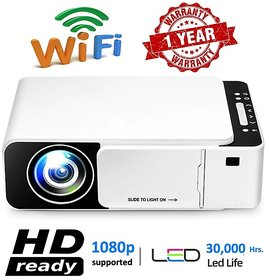 2021 New Edition LED Projector 1080p Full HD T5 Mini Portable - Supports Wifi, HDMI,VGA,AV IN,USB, Miracast/Airplay