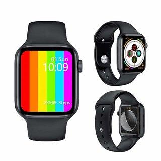W26 Smart Watch Infinite Screen - 44mm Watch Series 6 Smart Watch Bluetooth Call ECG Temperature Smart Watch (Black)