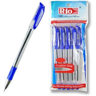 PACK OF 50 RIO SMART GRIP BALL PEN (BLUE BODY)