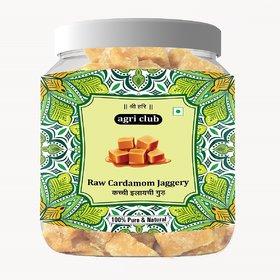 Agri Club Cardamom Jaggery/Elaichi Gur 500gm Pure,Natural,Chemical Free