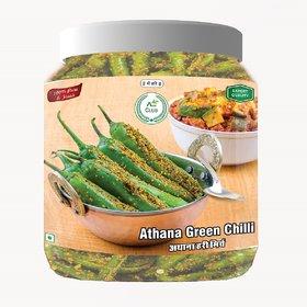 Agri Club Green Chilli Pickle of Athana (Hari Mirch Achar)  ()      750gm