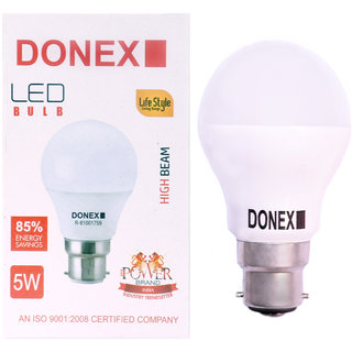 Donex 5W LED Bulb (Pack of 8 ,Cool Day Light)