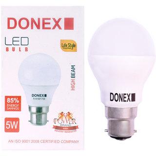 Donex 5W LED Bulb (Pack of 10 ,Cool Day Light)